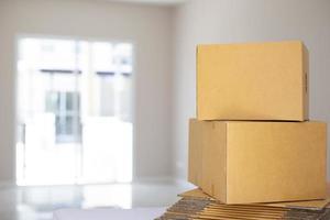 boîtes en carton empilées
