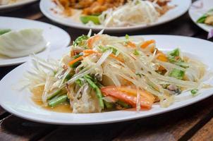 salade de papaye et crabe