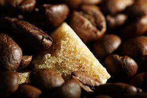café et morceaux de sucre photo