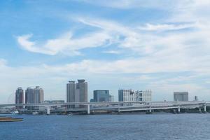 paysage urbain de la ville de tokyo photo
