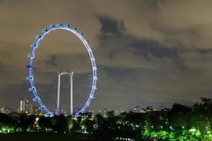 flyer de singapour la nuit
