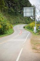 courbe de la route photo