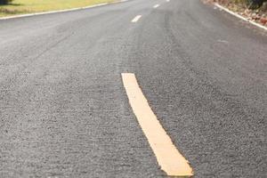 gros plan, de, une, route asphaltée photo