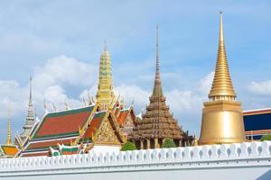 Pagode au Wat Phra Kaew en Thaïlande