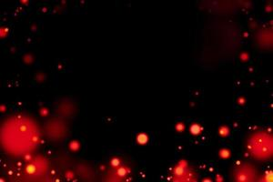 cercles rouges flous avec fond noir