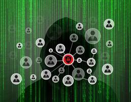 jeune hacker travaillant dur pour résoudre les codes de mot de passe en ligne