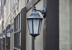 lampadaires sur mur photo