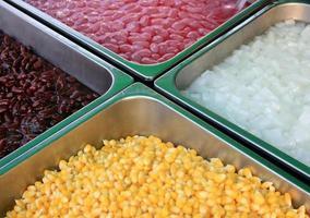 nourriture dans les diviseurs photo