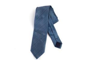cravate bleue isolé sur fond blanc photo