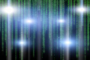 fond binaire abstrait technologie verte photo
