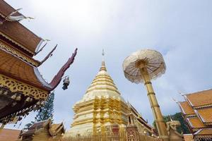 temple phra that doi suthep en thaïlande photo