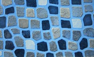 tuile abstraite bleue