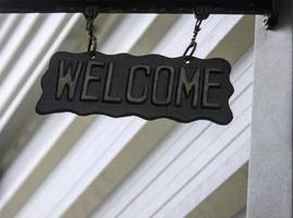 signe de bienvenue en métal