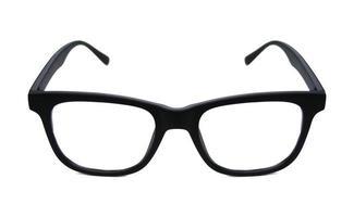 lunettes de lecture noires sur blanc photo