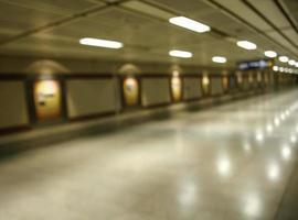 fond de passage souterrain flou photo