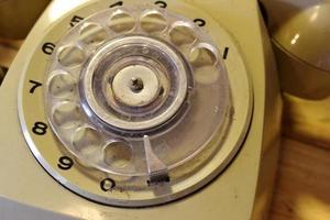 vieux téléphone à cadran photo