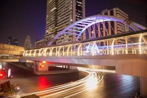 Intersection de la route silom à bangkok