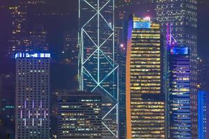 Bâtiments de gratte-ciel dans la ville de hong kong photo