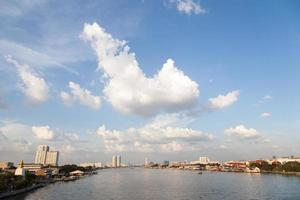 Rivière Chao Phraya à Bangkok photo