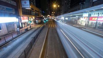 hong kong, 2020 - longue exposition de la ville la nuit photo