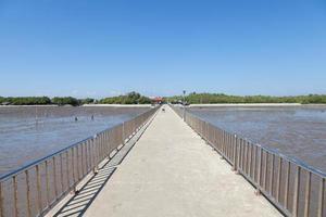 pont entre la côte et la mer