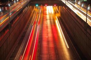 feux de circulation de voitures