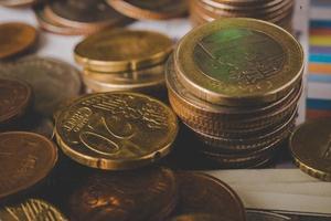 pièces en euros photo
