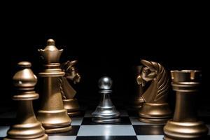 jeu de bataille d'échecs photo