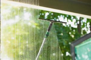 concept de verre de nettoyage photo