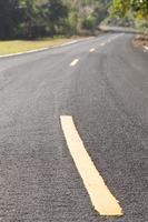 gros plan d'une route photo