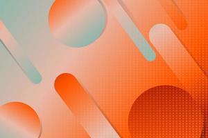 fond abstrait géométrique vert et orange