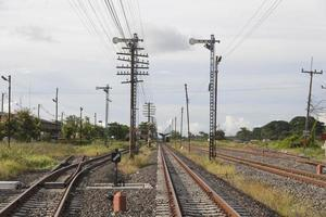 chemin de fer et poteaux