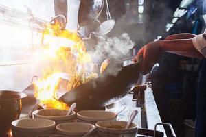 flamme du wok photo