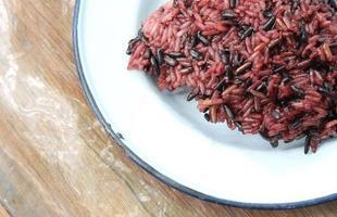 riz gluant noir photo
