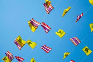 drapeaux de la Thaïlande et du bouddhisme