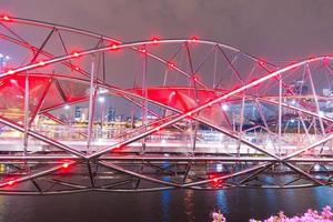 Helix Bridge à Singapour photo