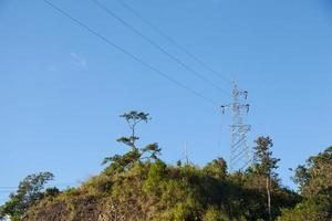 Pylône électrique haute tension en Thaïlande photo