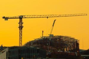 Grue de construction à Bangkok, Thaïlande