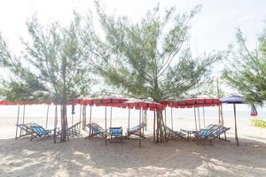 bains de soleil sur la plage en thaïlande photo