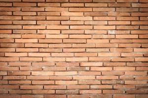 vieux mur de briques rouges photo