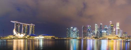 singapour la nuit photo