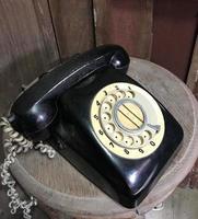 ancien téléphone à cadran photo