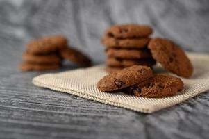 biscuits sur un chiffon