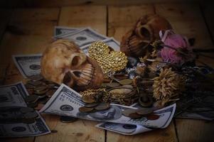trésor de pirate sur bois
