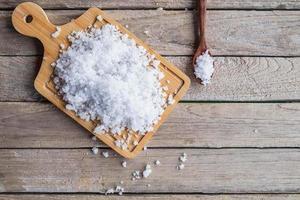 vue de dessus du sel