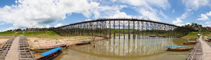 Pont de Sagklaburi en Thaïlande