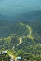 route sur la montagne