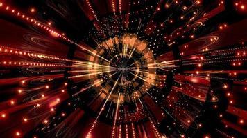 Lumières et formes marron et rouge en illustration 3d kaléidoscope pour le fond ou le papier peint