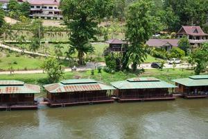 station balnéaire au bord de la rivière en thaïlande