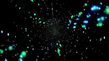 illustration 3d de lumières bleues, blanches et vertes pour le fond ou le papier peint photo